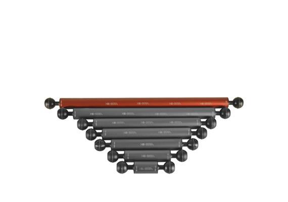 """Isotta 1"""" Kugel Auftriebsarm 400mm Länge, 25mm Durchmesser (+85g Auftrieb)"""
