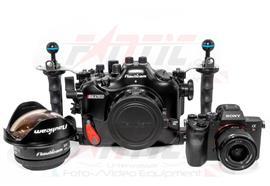 KOMPLETTSET: Sony A7RIV + NA-A7RIV + 28mm + Port + WWL-1, Vacuum