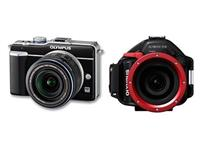 MIETE: SET Olympus PEN Kamera E-PL1 + UW-Gehäuse PT-EP01