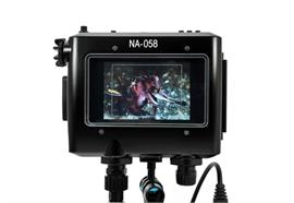"Nauticam NA-058 housing for TVLogic VFM-058W 5.5"" Full HD Viewfinder Monitor"
