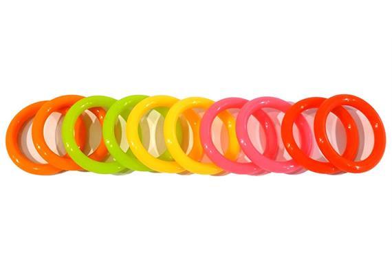 """O-Ring Set (10 Stück) für 1"""" Kugelarme - Regenbogen"""