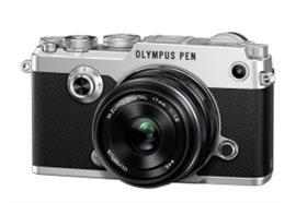 Olympus Digitalkamera PEN-F Kit 17mm (Silber/Schwarz)