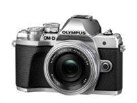 Olympus OM-D Kamera E-M10 III Pancake Zoom Kit 14-42+40-150mm 4.0-5.6R (silber/silber/schw