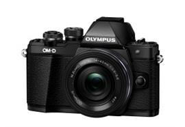 Olympus OM-D Kamera E-M10II Pancake Zoom Kit 14-42 (schwarz/schw