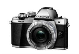Olympus OM-D Kamera E-M10II Pancake Zoom Kit 14-42 (Silber/Silber)