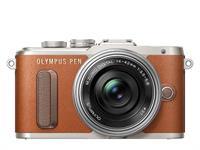 Olympus PEN Kamera E-PL8 Pancake Zoom Kit 14-42 (braun/silber)
