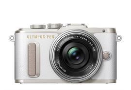 Olympus PEN Kamera E-PL8 Pancake Zoom Kit 14-42 (weiss/silber)