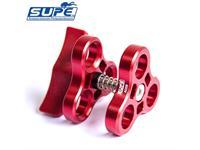 Scubalamp SUPE Dreierklammer Aluminium (Flügel ABS Kunststoff) - rot