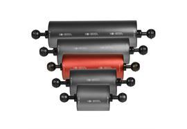 """Isotta 1"""" Ball Float Arm 150mm length, 70mm diameter (Buoyancy +420g)"""