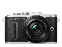 Olympus PEN camera E-PL8 Pancake Zoom Kit 14-42 (black/black)