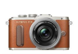 Olympus PEN camera E-PL8 Pancake Zoom Kit 14-42 (brown/silver)