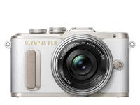 Olympus PEN camera E-PL8 Pancake Zoom Kit 14-42 (white/silver)
