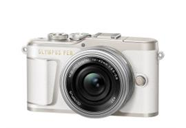 Olympus PEN camera E-PL9 Pancake Zoom Kit 14-42 (white/silver)