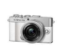 Olympus PEN E-P7 Pancake Zoom-Kit (white/silver)