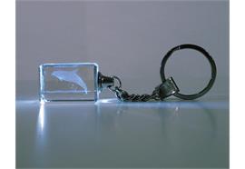 Schlüsselanhänger Glas mit Laser-Motiv