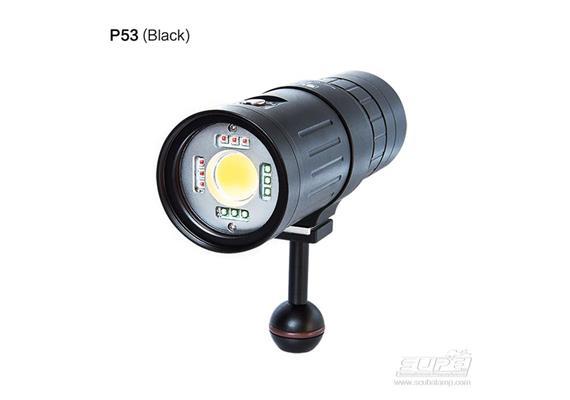 Scubalamp SUPE P53 Video - Focus - Strobe Light - black