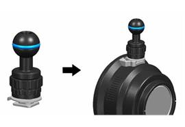 Nauticam Strobe mounting ball for cold shoe