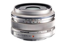 Olympus objectif M.Zuiko Digital 17mm 1:1.8 (argent)