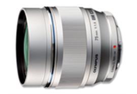 Olympus objectif M.Zuiko Digital ED 75mm 1:1.8 (argent)