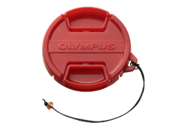 Olympus red Front Cap PRLC-14 for Olympus Housing PT-053, PT-055, PT-058, PT-059