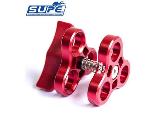 Scubalamp SUPE 3way-Clamp Aluminium (Switch ABS Plastic) - rouge