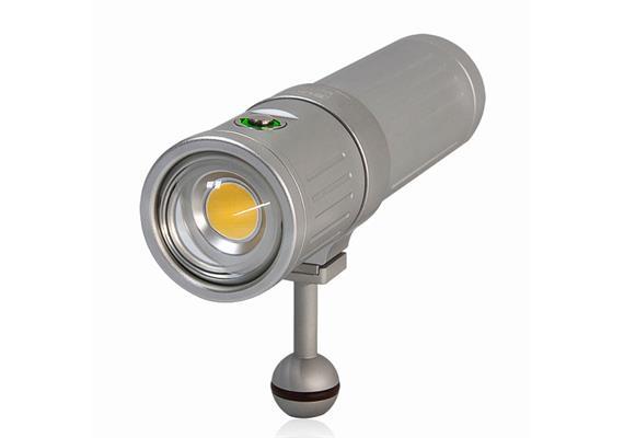 Scubalamp SUPE V4K PRO lampe vidéo et photo sous-marine - argent