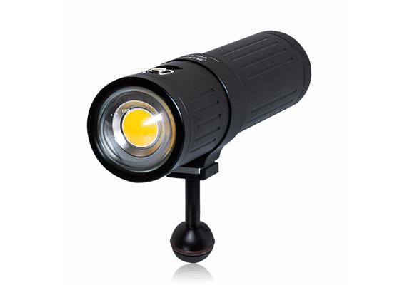 Scubalamp SUPE V4K PRO lampe vidéo et photo sous-marine - noir