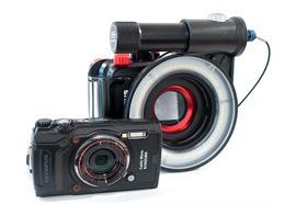 SET: Olympus TG-6 + boîtier PT-059, flash annulaire X-Adventurer, lentille macro Inon UCL-