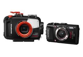LOCAZIONE:SET Olympus Kompaktkamera TG-3+UW-Gehäuse PT-056