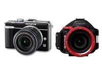 LOCAZIONE:SET Olympus PEN Kamera E-PL1 + UW-Gehäuse PT-EP01