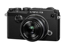 Olympus camera digitale PEN-F Kit 17mm (nero/nero)