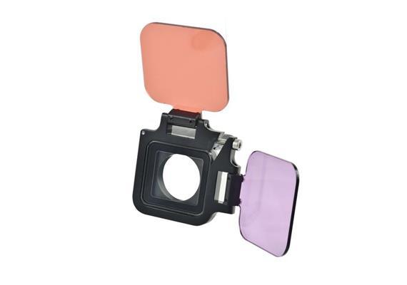 Red/Magenta Flip Filter Set for GoPro Hero 5 / GoPro Hero 6 / Black 7