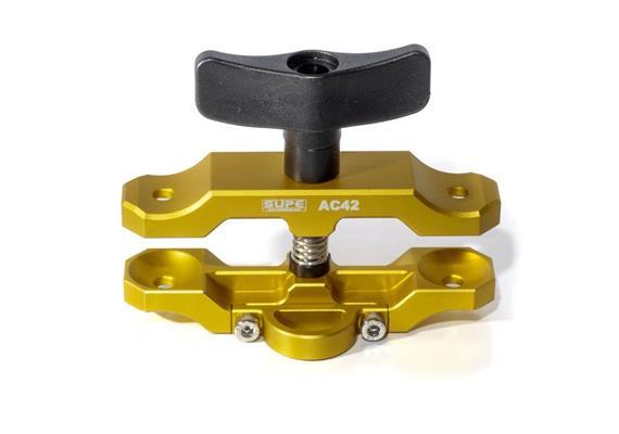 Scubalamp SUPE Tri-compression Clamp Aluminium (Switch ABS Plastic) lungo - orange