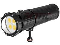 Scubalamp SUPE V9K lampada video subacquea (nero)
