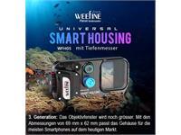 Weefine custodia subacquea WFH05 PRO (con profondimetro) per smartphone iPhone / Android